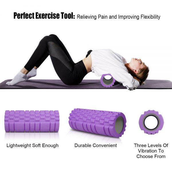 Massage Yoga Grid Foam New Hollow Foam Roller Mesh For Pilates Physical Exercise (5)