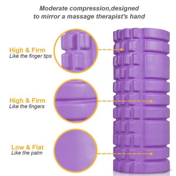 Massage Yoga Grid Foam New Hollow Foam Roller Mesh For Pilates Physical Exercise (6)