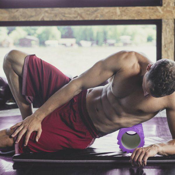 Massage Yoga Grid Foam New Hollow Foam Roller Mesh For Pilates Physical Exercise (7)
