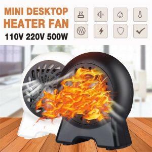 Mini Desktop Heater Small Electric Heater Fan Hot Air Warmer Silent Home Office (1)