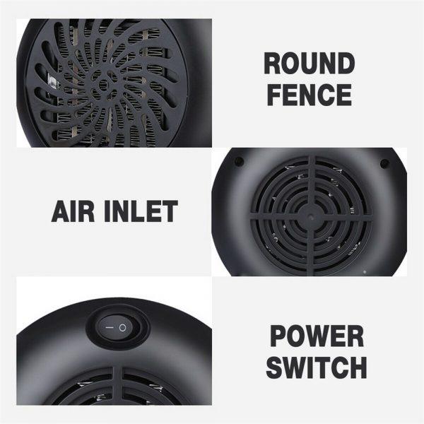 Mini Desktop Heater Small Electric Heater Fan Hot Air Warmer Silent Home Office (10)