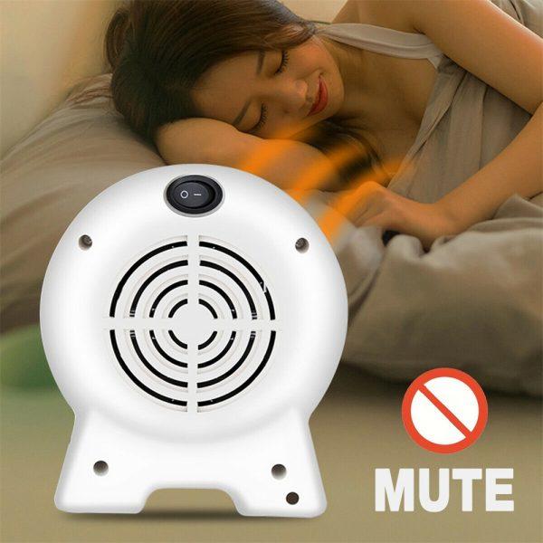 Mini Desktop Heater Small Electric Heater Fan Hot Air Warmer Silent Home Office (5)