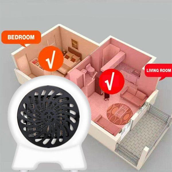 Mini Desktop Heater Small Electric Heater Fan Hot Air Warmer Silent Home Office (6)