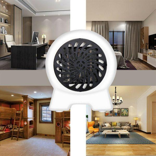 Mini Desktop Heater Small Electric Heater Fan Hot Air Warmer Silent Home Office (7)