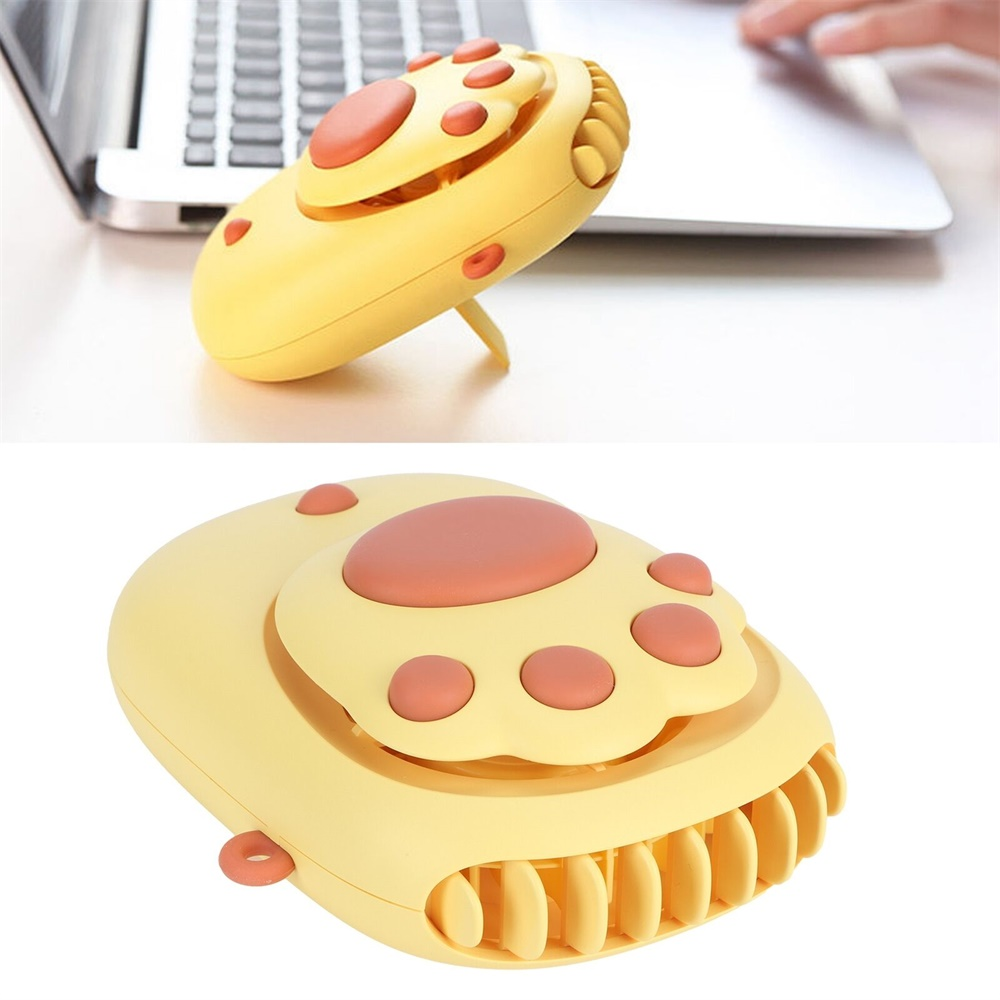 Mini Handheld Fan Cute Portable Cat Paw Hanging Neck Fan Usb Charging For Home (11)