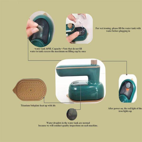 Mini Handheld Portable Hanging Ironing Machine Clothes Shirts Garment Steamer New (5)