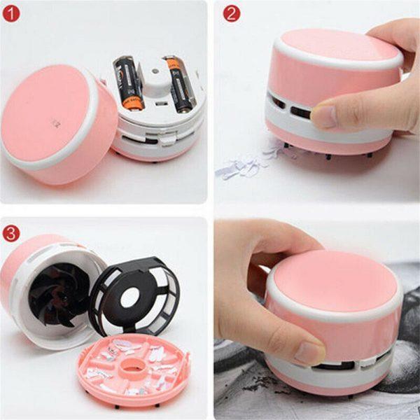 Mini Portable Vacuum Cleaner Dust Crumb Household Handheld Sweeper Desktop Cleaner (5)