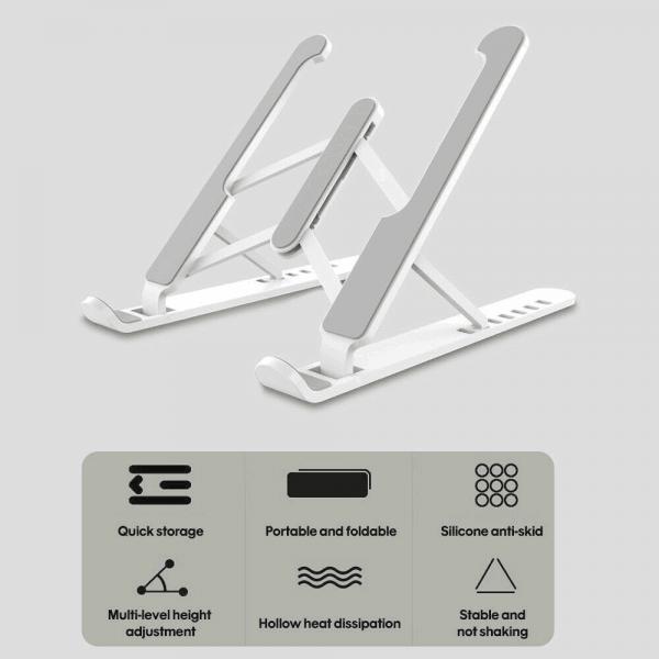 Notebook Stand Portable Adjustable Tablet Holder Foldable Computer Stand Base (4)