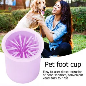 Pet Foot Washing Cup Portable Quickly Wash Cleaning Brush Cup New (9)