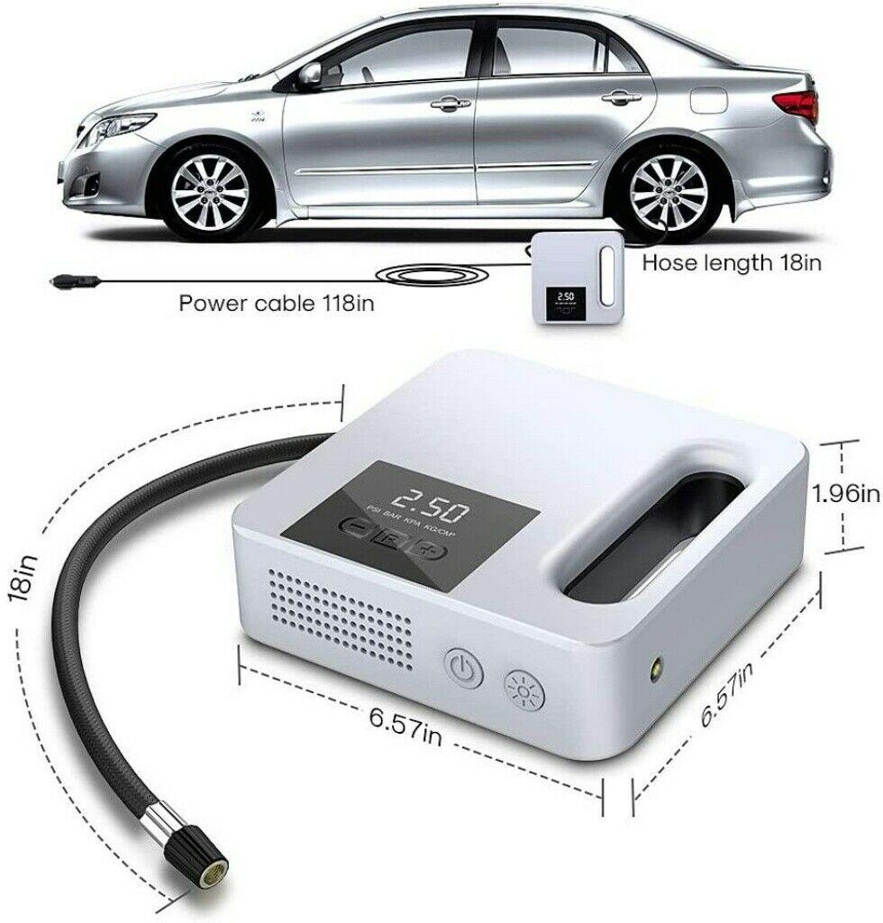 Portable Car Air Pump Digital Display Digital Air Compressor Pump Lcd Display (10)