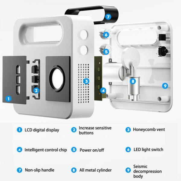 Portable Car Air Pump Digital Display Digital Air Compressor Pump Lcd Display (3)