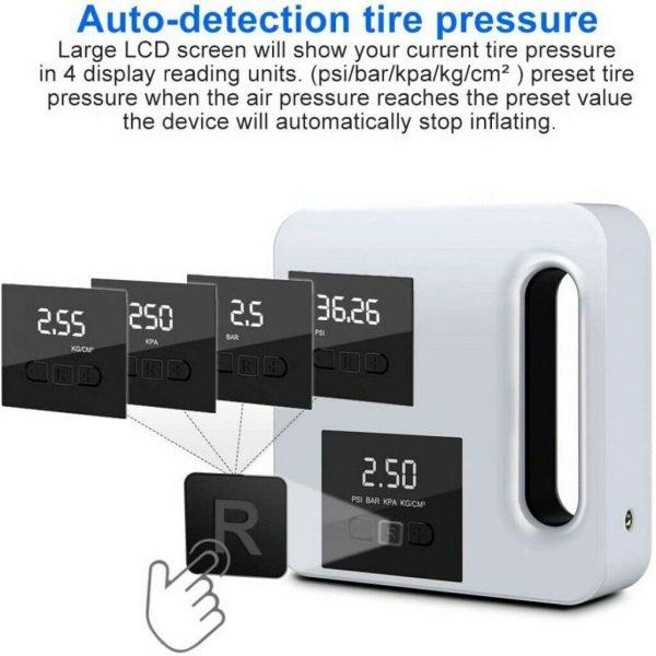 Portable Car Air Pump Digital Display Digital Air Compressor Pump Lcd Display (4)
