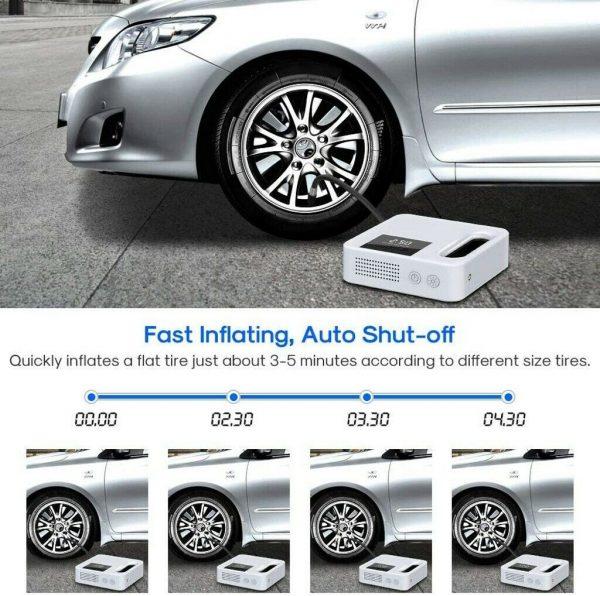 Portable Car Air Pump Digital Display Digital Air Compressor Pump Lcd Display (6)