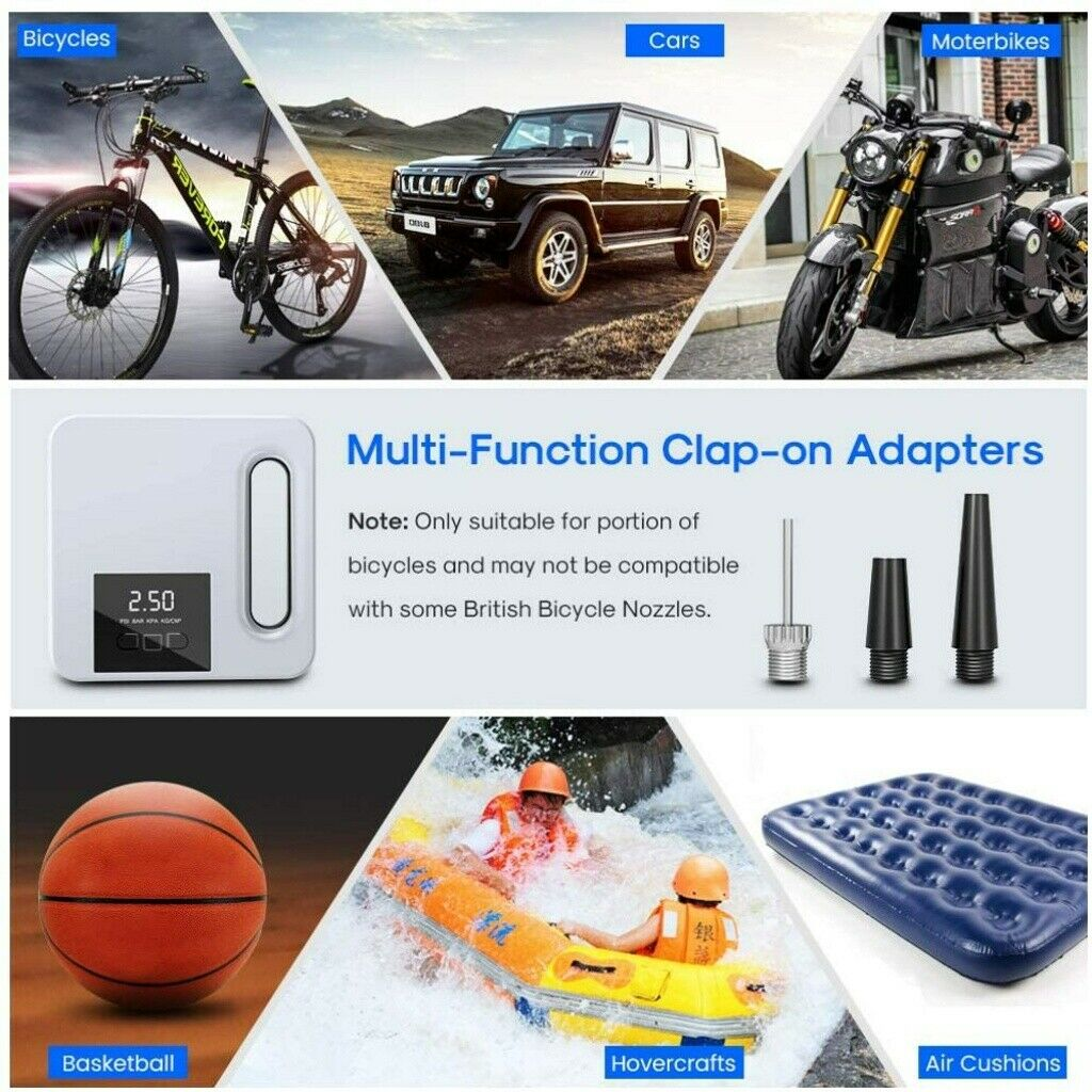 Portable Car Air Pump Digital Display Digital Air Compressor Pump Lcd Display (7)