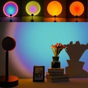 Sun Sunset Led Light Projector Lamp Decoration Background Wall Atmosphere Lamp Night Light