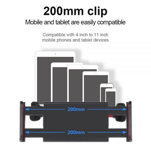 Tablet Back Seat Headrest Phone Bracket 360 Rotation Mobile Phone Tablet Holder (11)