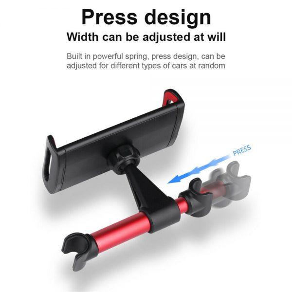 Tablet Back Seat Headrest Phone Bracket 360 Rotation Mobile Phone Tablet Holder (12)