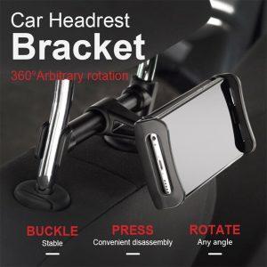 Tablet Back Seat Headrest Phone Bracket 360 Rotation Mobile Phone Tablet Holder (14)