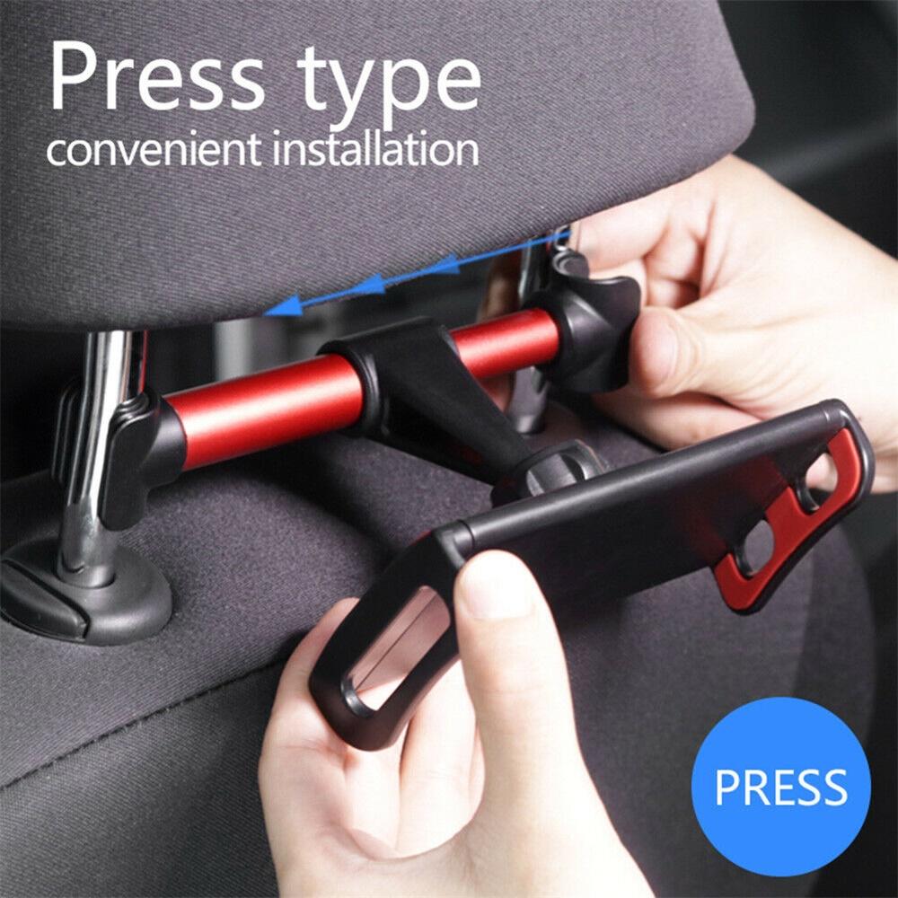 Tablet Back Seat Headrest Phone Bracket 360 Rotation Mobile Phone Tablet Holder (3)