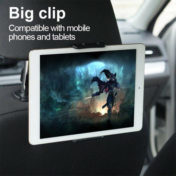 Tablet Back Seat Headrest Phone Bracket 360 Rotation Mobile Phone Tablet Holder (5)