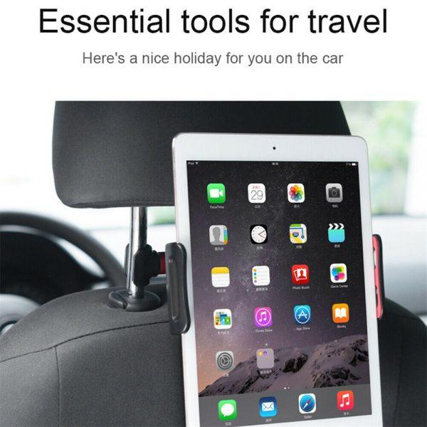 Tablet Back Seat Headrest Phone Bracket 360 Rotation Mobile Phone Tablet Holder (7)