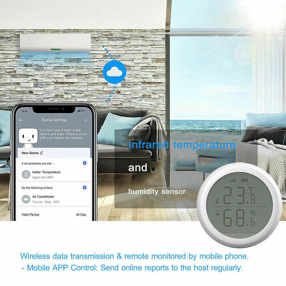 Wifi Tuya Smart Electronic App Temperature And Humidity Sensor Digital Display (10)