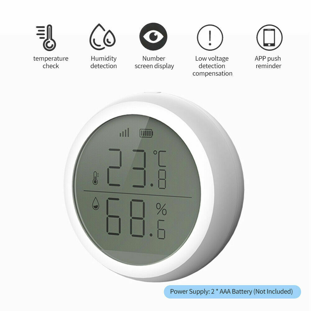 Wifi Tuya Smart Electronic App Temperature And Humidity Sensor Digital Display (7)